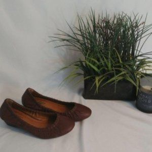 Lucky Brand Leather Brown Kitten Wedges